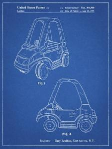 PP816-Blueprint Fisher Price Toy Car Patent Poster by Cole Borders
