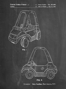 PP816-Chalkboard Fisher Price Toy Car Patent Poster by Cole Borders