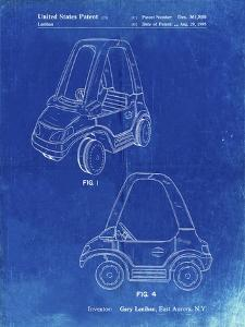 PP816-Faded Blueprint Fisher Price Toy Car Patent Poster by Cole Borders