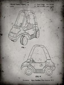 PP816-Faded Grey Fisher Price Toy Car Patent Poster by Cole Borders