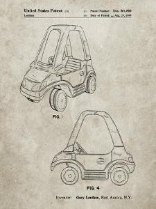PP816-Sandstone Fisher Price Toy Car Patent Poster by Cole Borders
