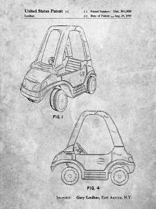 PP816-Slate Fisher Price Toy Car Patent Poster by Cole Borders