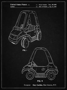 PP816-Vintage Black Fisher Price Toy Car Patent Poster by Cole Borders