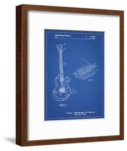 PP818-Blueprint Floyd Rose Guitar Tremolo Patent Poster by Cole Borders