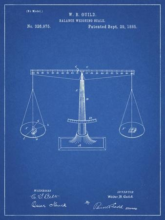 PP84-Blueprint Scales of Justice Patent Poster