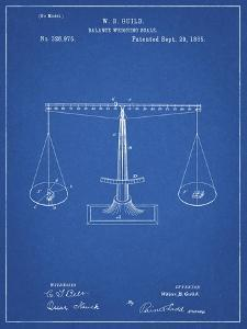 PP84-Blueprint Scales of Justice Patent Poster by Cole Borders