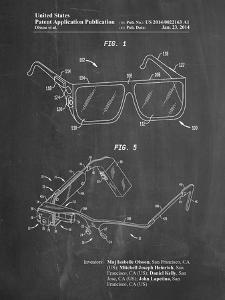 PP861-Chalkboard Google Glass Patent Poster by Cole Borders
