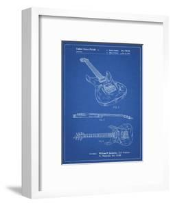 PP888-Blueprint Ibanez Pro 540RBB Electric Guitar Patent Poster by Cole Borders