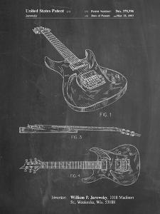 PP888-Chalkboard Ibanez Pro 540RBB Electric Guitar Patent Poster by Cole Borders