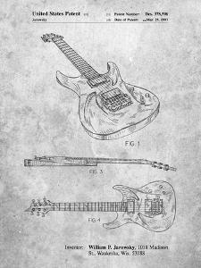 PP888-Slate Ibanez Pro 540RBB Electric Guitar Patent Poster by Cole Borders