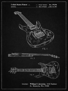 PP888-Vintage Black Ibanez Pro 540RBB Electric Guitar Patent Poster by Cole Borders