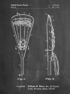 PP915-Chalkboard Lacrosse Stick 1936 Patent Poster by Cole Borders