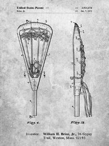 PP915-Slate Lacrosse Stick 1936 Patent Poster by Cole Borders