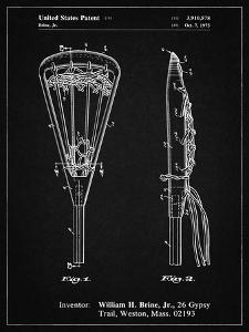 PP915-Vintage Black Lacrosse Stick 1936 Patent Poster by Cole Borders