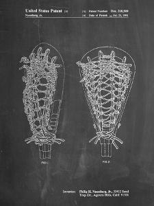 PP916-Chalkboard Lacrosse Stick Patent Poster by Cole Borders