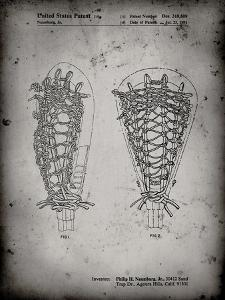 PP916-Faded Grey Lacrosse Stick Patent Poster by Cole Borders