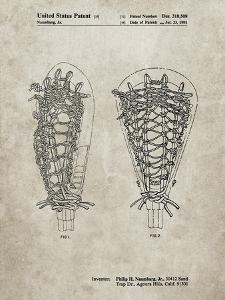 PP916-Sandstone Lacrosse Stick Patent Poster by Cole Borders