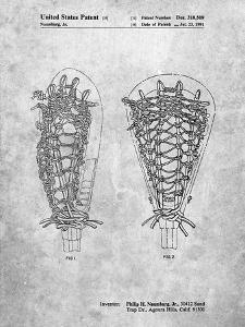 PP916-Slate Lacrosse Stick Patent Poster by Cole Borders