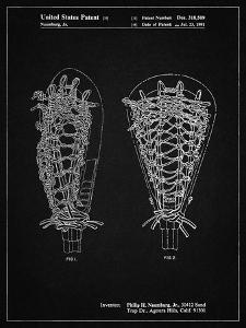 PP916-Vintage Black Lacrosse Stick Patent Poster by Cole Borders