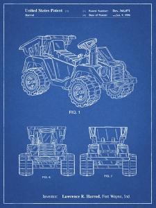 PP951-Blueprint Mattel Kids Dump Truck Patent Poster by Cole Borders
