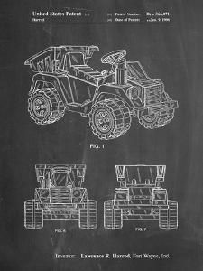 PP951-Chalkboard Mattel Kids Dump Truck Patent Poster by Cole Borders