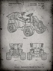 PP951-Faded Grey Mattel Kids Dump Truck Patent Poster by Cole Borders