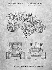 PP951-Slate Mattel Kids Dump Truck Patent Poster by Cole Borders