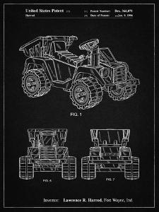 PP951-Vintage Black Mattel Kids Dump Truck Patent Poster by Cole Borders