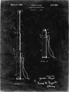 PP970-Black Grunge Night Stick Patent Poster by Cole Borders