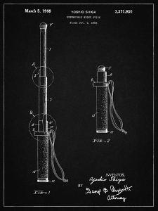 PP970-Vintage Black Night Stick Patent Poster by Cole Borders