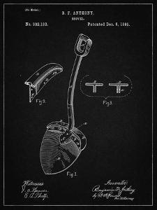 PP976-Vintage Black Original Shovel Patent 1885 Patent Poster by Cole Borders
