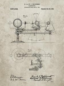 PP988-Sandstone Planetarium 1909 Patent Poster by Cole Borders