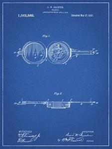 PP992-Blueprint Pocket Transit Compass 1919 Patent Poster by Cole Borders