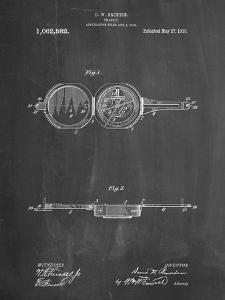 PP992-Chalkboard Pocket Transit Compass 1919 Patent Poster by Cole Borders