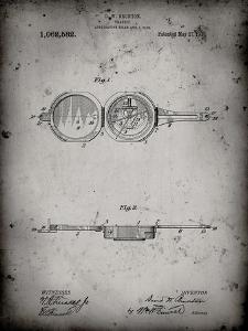 PP992-Faded Grey Pocket Transit Compass 1919 Patent Poster by Cole Borders