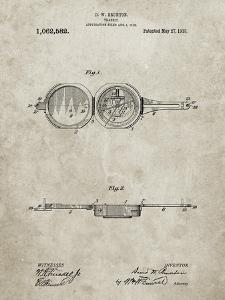 PP992-Sandstone Pocket Transit Compass 1919 Patent Poster by Cole Borders