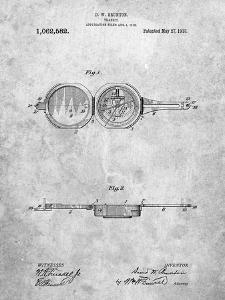 PP992-Slate Pocket Transit Compass 1919 Patent Poster by Cole Borders