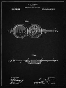 PP992-Vintage Black Pocket Transit Compass 1919 Patent Poster by Cole Borders