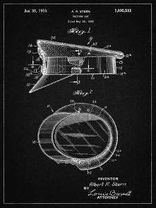 PP993-Vintage Black Police Hat 1933 Patent Poster by Cole Borders