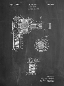 Vintage Hair Dryer Patent by Cole Borders