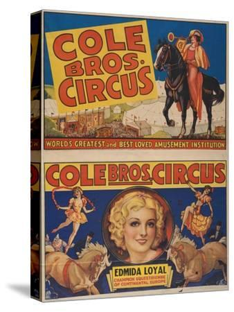 """""""Cole Bros. Circus: World'sGreatest and Best Loved Amusement Institution"""", Circa 1938"""