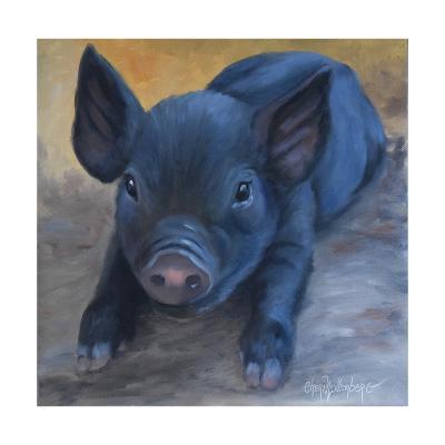 Cole's Baby Pig-Cheri Wollenberg-Art Print
