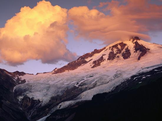 Coleman Glacier and Mount Baker-Paul Souders-Photographic Print