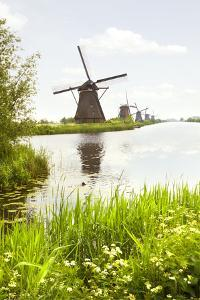 Row of Windmills in Kinderdijk, the Netherlands by Colette2