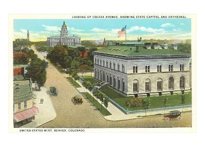 Colfax Avenue, State Capitol, Denver, Colorado--Art Print
