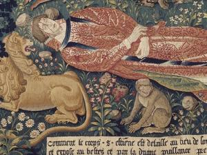 La tenture de Saint Etienne, pièce V : le martyre de saint Etienne by Colijn de Coter
