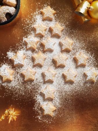 Christmas Cookies Arranged into Tree Shape