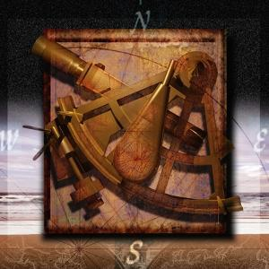 Sextant and Overlaying Compass by Colin Anderson