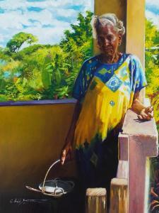Abuela  2018  (oil on linen) by Colin Bootman