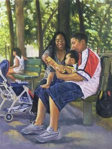 Family in the Park, 1999 by Colin Bootman